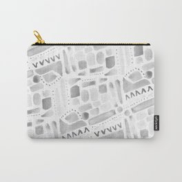 Watercolor Pattern Play in Black Carry-All Pouch