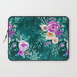 LAVISH FLORAL - EMERALD Laptop Sleeve