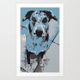 Catahoula Catawhat Art Print