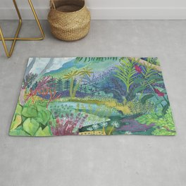 Jungle Paradise Watercolor Rug