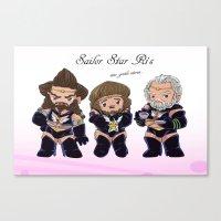 nori Canvas Prints featuring Ori, Dori, Nori, Sailor scouts by Rshido