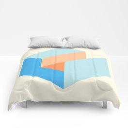'Iso-cube Blue/Orange' Comforters