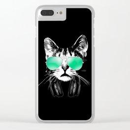 DJ Cat Clear iPhone Case