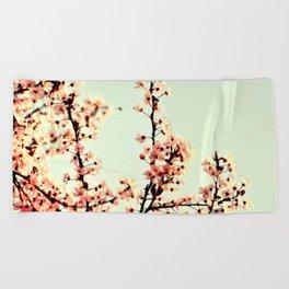SUBTLE BLOSSOM Beach Towel