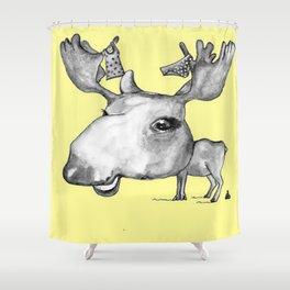 NORDIC ANIMAL  - MURIAL THE MOOSE  / ORIGINAL DANISH DESIGN bykazandholly Shower Curtain
