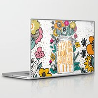 running Laptop & iPad Skins featuring ALWAYS LOOK ON THE BRIGHT SIDE... by Matthew Taylor Wilson