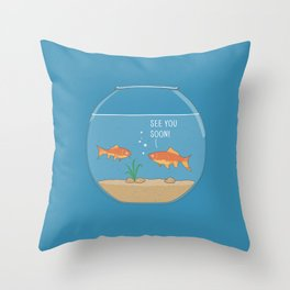 It's a small small world Throw Pillow