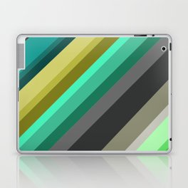 green brown yellow grey stripes Laptop & iPad Skin