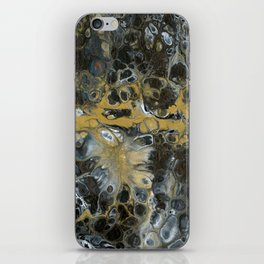Black and Gold Horizon iPhone Skin