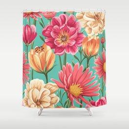 Romantic Floral Pattern Shower Curtain