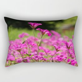 Pink Cransebill Rectangular Pillow