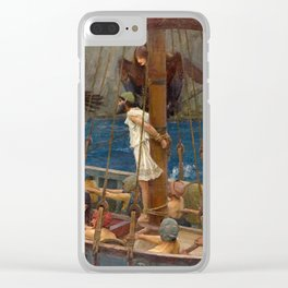 Ulysses and the Sirens - John William Waterhouse Clear iPhone Case