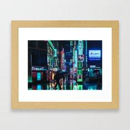 Neon in the Night Framed Art Print