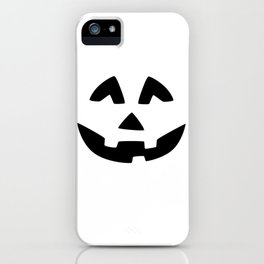 Cute Jack O'Lantern Face iPhone Case