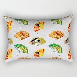 oriental fans Rectangular Pillow
