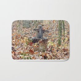 Cross in the Woods Bath Mat