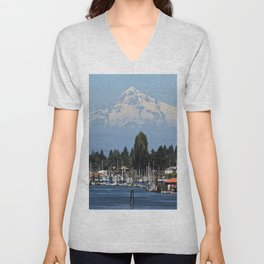 Mount Hood Unisex V-Neck