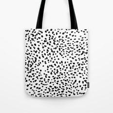 Nadia - Black and White, Animal Print, Dalmatian Spot, Spots, Dots, BW Tote Bag