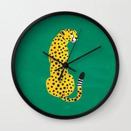 The Stare: Golden Cheetah Edition Wall Clock