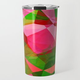 Pink Roses in Anzures 2 Abstract Polygons 2 Travel Mug