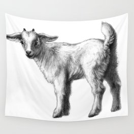 Goat baby G147 Wall Tapestry