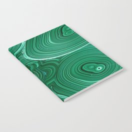 Green Malachite Nature Pattern Design Abstract Notebook