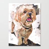 shih tzu Canvas Prints featuring Simba The Shih Tzu by Maritza Hernandez