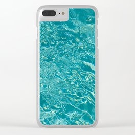 Palm Springs Pool Clear iPhone Case