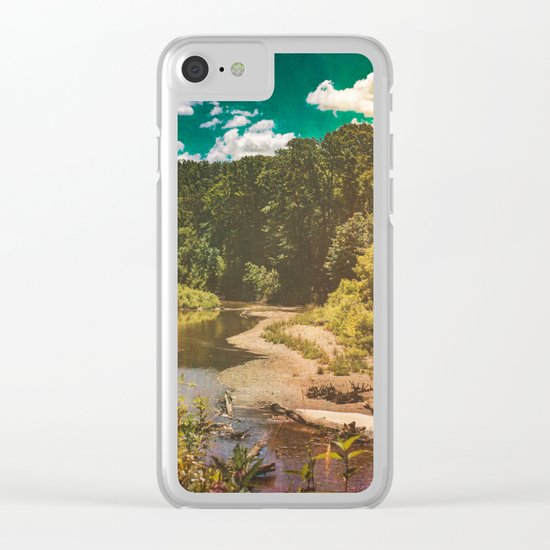 Black River Clear iPhone Case