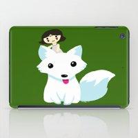 princess mononoke iPad Cases featuring Princess Mononoke by Mayying