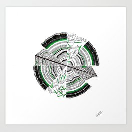 Age, Cells, and Pi Art Print