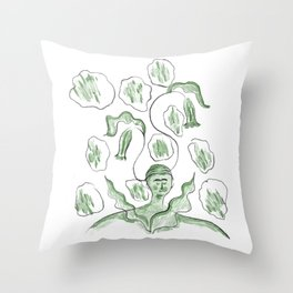 Thinker of Tender Thoughts Throw Pillow