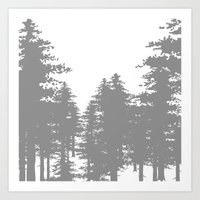 forrest Art Prints featuring Forrest by Dan Parker