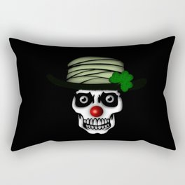 Irish Clown Skeleton Rectangular Pillow