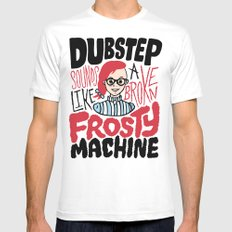 Frosty Dubstep Mens Fitted Tee White MEDIUM