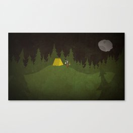 Camping Scene Canvas Print