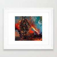 iron man Framed Art Prints featuring iron man by ururuty
