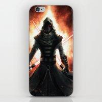 dark side iPhone & iPod Skins featuring Dark side by Michele Frigo