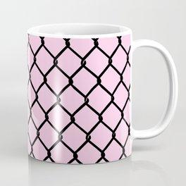 Chain Link Black on Blush Coffee Mug