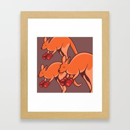 Kangaroo Framed Art Print