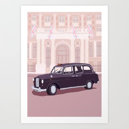 London Taxi Cab Art Print