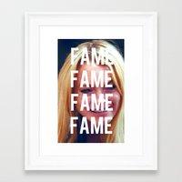 lindsay lohan Framed Art Prints featuring FAME - LINDSAY LOHAN by Beauty Killer Art