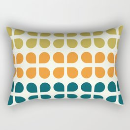 Retro '70s Geometric Leaves Rectangular Pillow