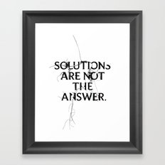 Nixon 02: Solutions Are Not The Answer Framed Art Print