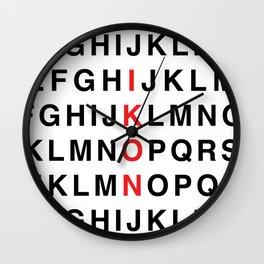 iKON TYPO Wall Clock