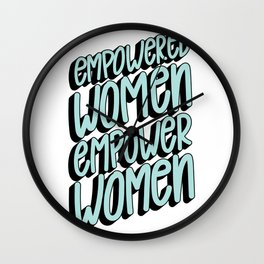 Empower Women Wall Clock