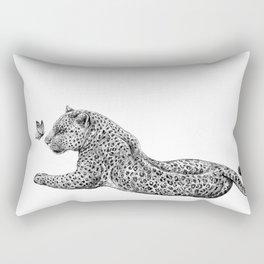 Leopard & Butterfly  Rectangular Pillow