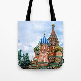 Saint Basil's Cathedral (Red Square in Moscow) Tote Bag