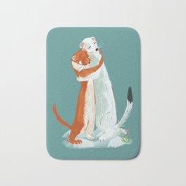 Weasel hugs Bath Mat