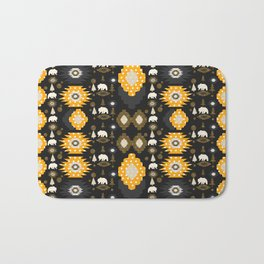 Ethnic winter pattern with little bears Bath Mat
